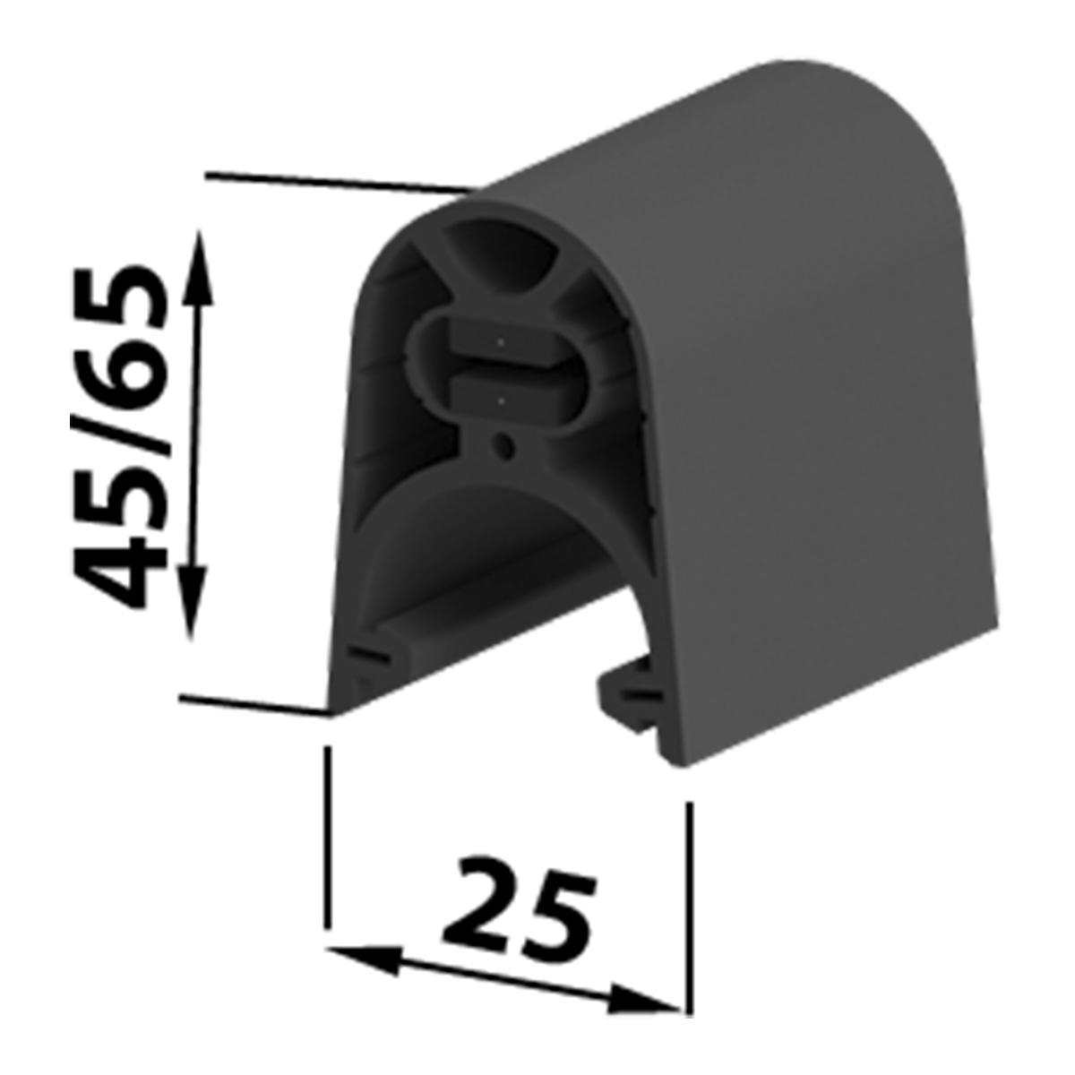 BFT aktive Sicherheitskontaktleiste 25x45mm Endleiste